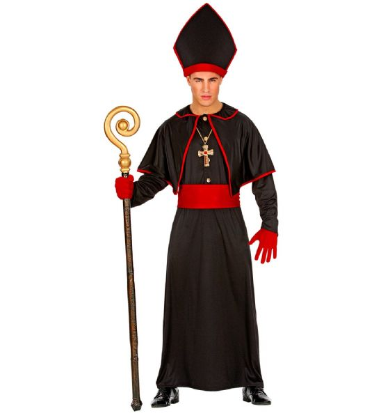 Adults Mens Dark Bishop Religious Holy Fancy Dress Costume